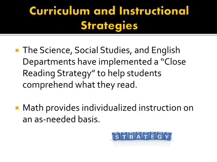 Curriculum and Instructional Strategies