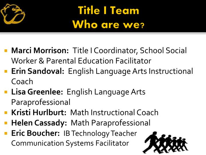 Title i team who are we