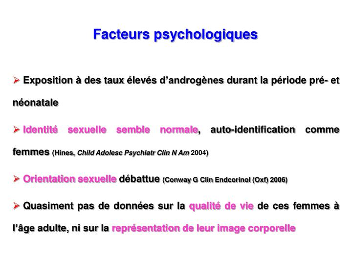 Facteurs psychologiques