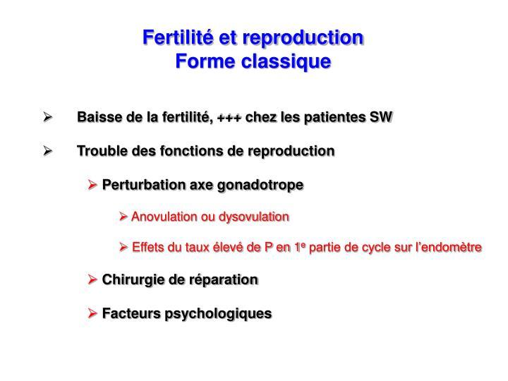 Fertilité et reproduction