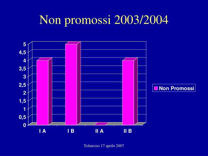 Non promossi 2003/2004