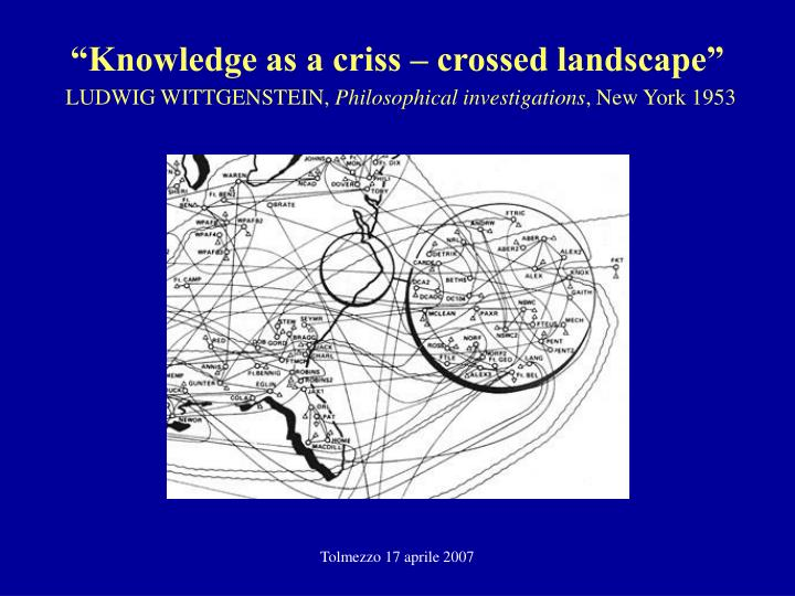 """Knowledge as a criss – crossed landscape"""