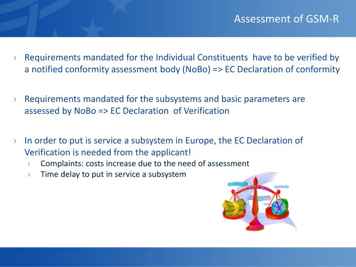 Assessment of GSM-R