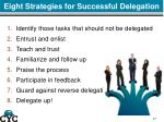 eight strategies for successful delegation