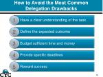 how to avoid the most common delegation drawbacks