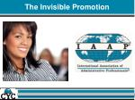 the invisible promotion1