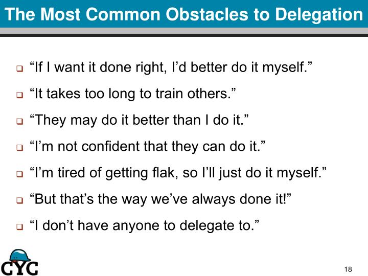 The Most Common Obstacles to Delegation
