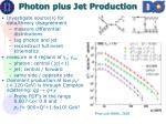 photon plus jet production
