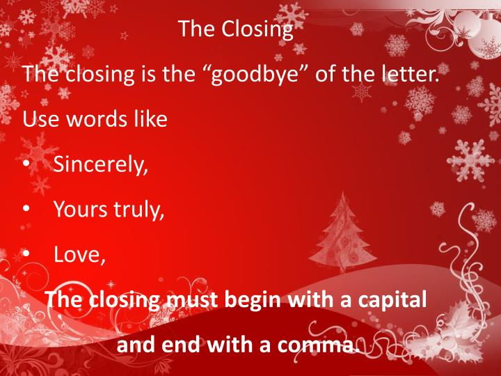 The Closing