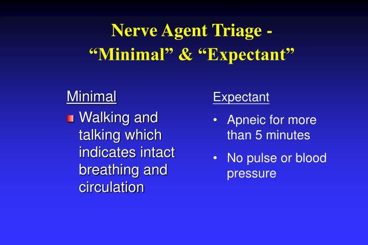 Nerve Agent Triage -