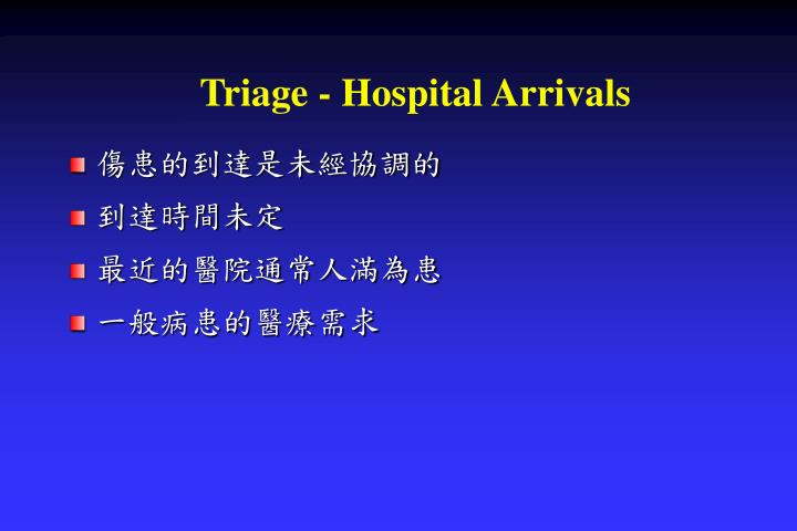 Triage - Hospital Arrivals