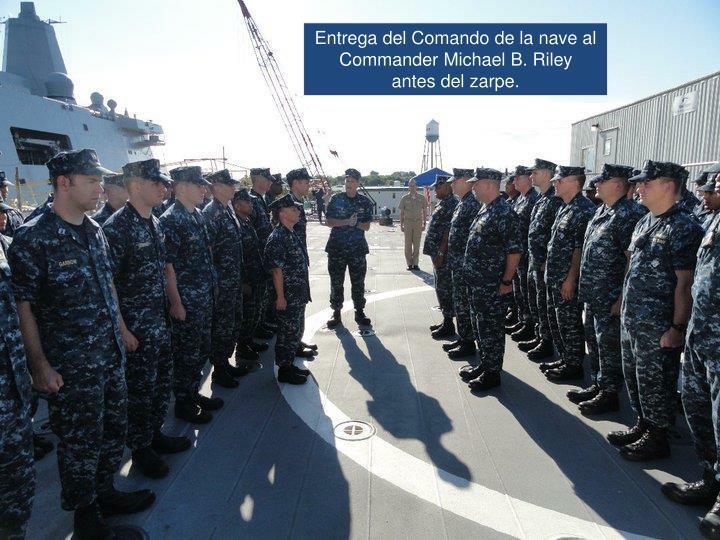 Entrega del Comando de la nave al