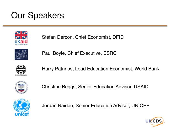 Our Speakers