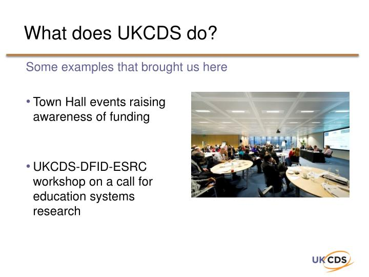 What does UKCDS do?