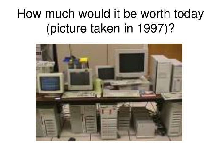 How much would it be worth today picture taken in 1997