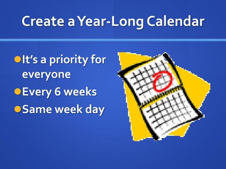 Create a Year-Long Calendar