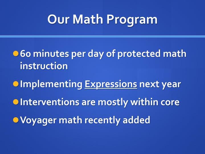 Our Math Program