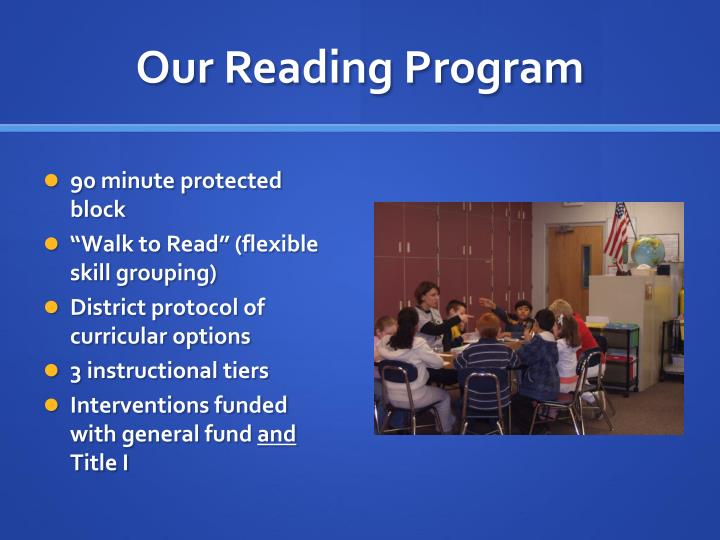 Our Reading Program