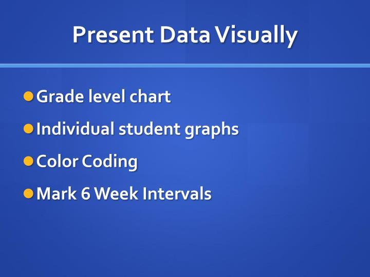 Present Data Visually