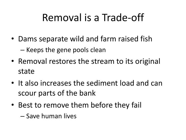 Removal is a Trade-off