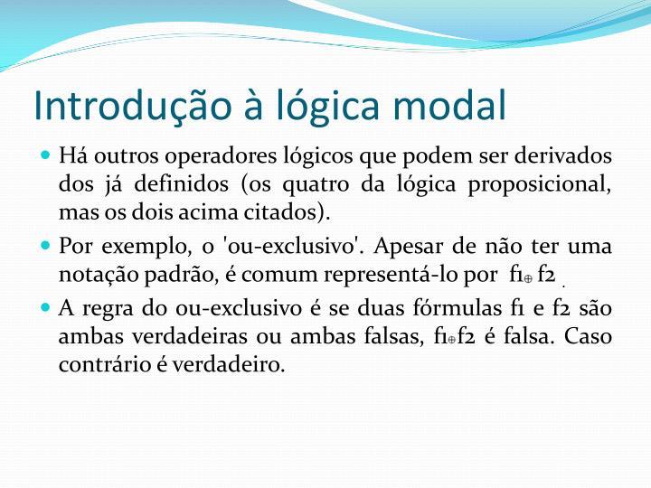 Introdução à lógica modal
