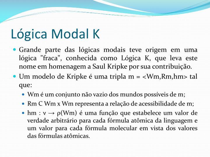 Lógica Modal K