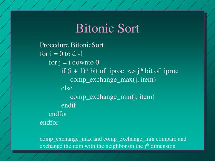 Bitonic Sort
