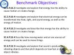 benchmark objectives