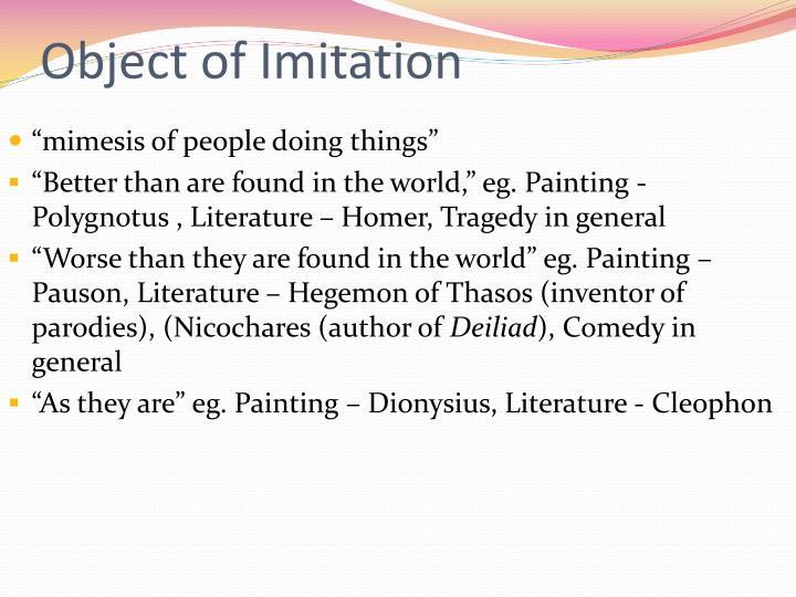 Object of Imitation