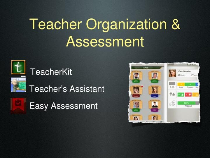 Teacher Organization & Assessment