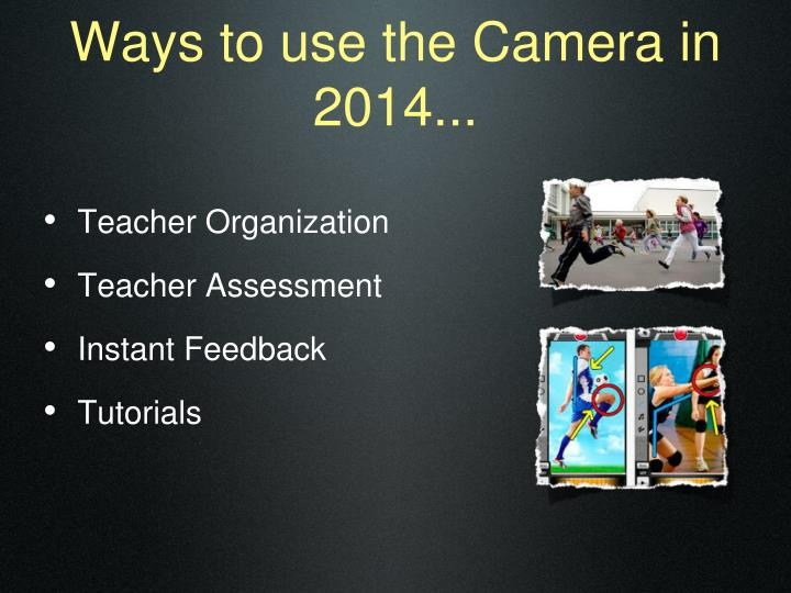 Ways to use the Camera in 2014...