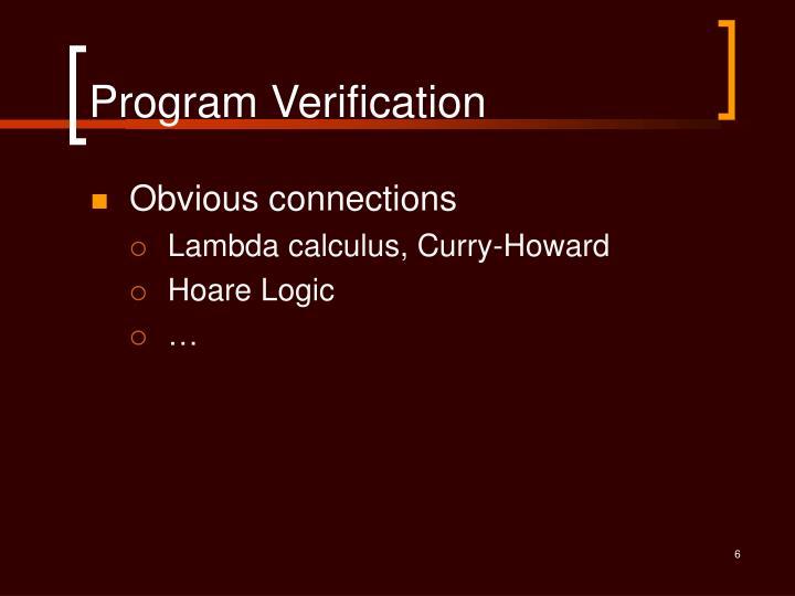 Program Verification