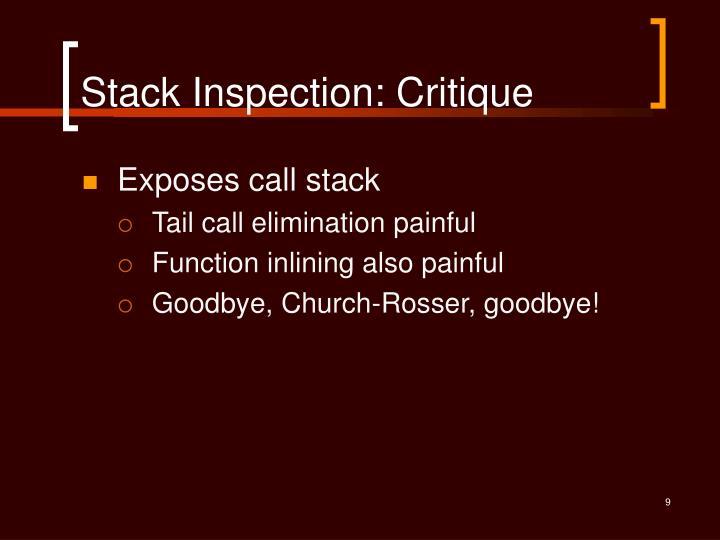 Stack Inspection: Critique