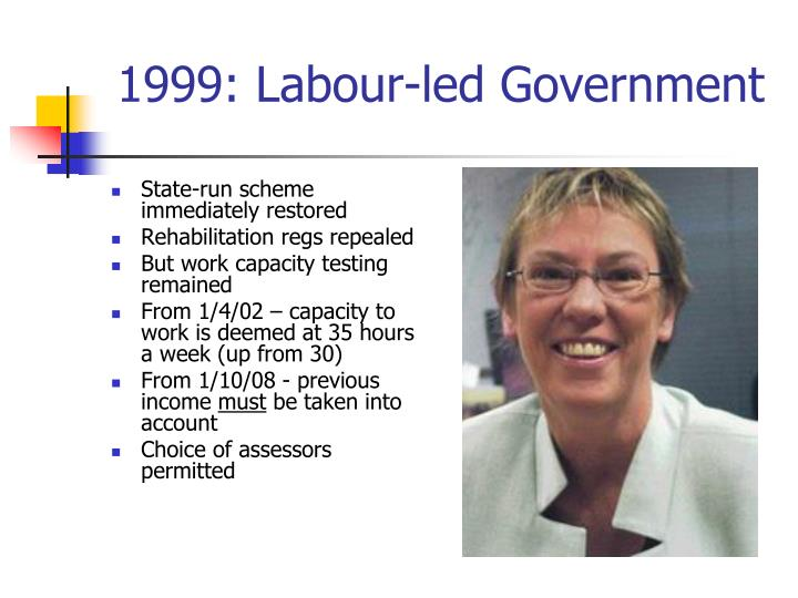 1999: Labour-led Government