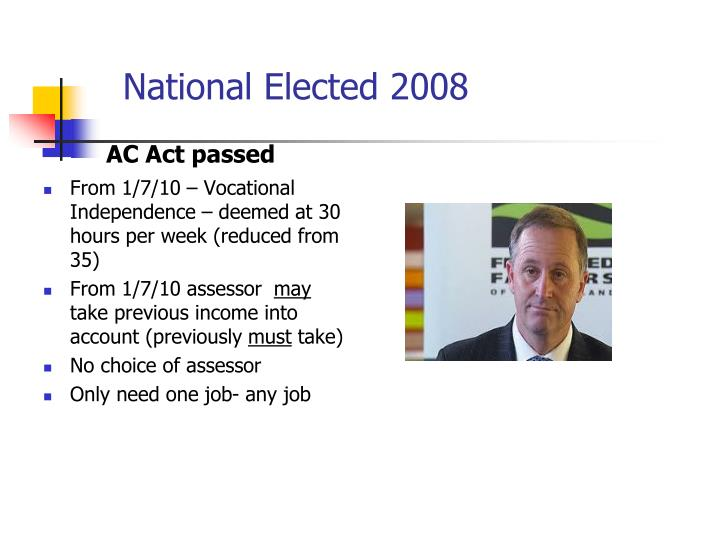 National Elected 2008