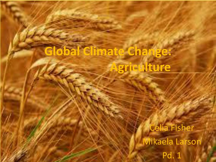 Global climate change agriculture