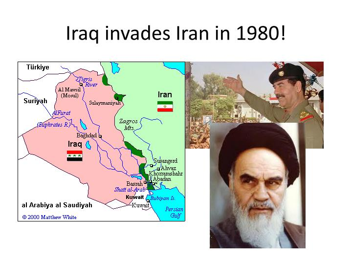 Iraq invades Iran in 1980!