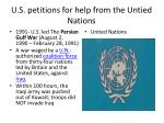 u s petitions for help from the untied nations