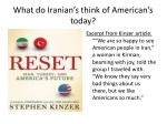 what do iranian s think of american s today