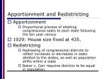 apportionment and redistricting