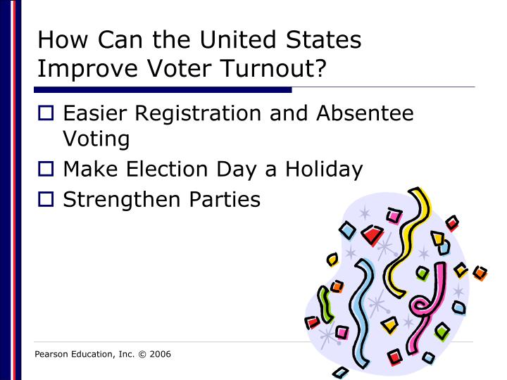 How Can the United States Improve Voter Turnout?