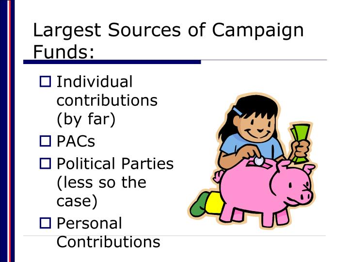 Largest Sources of Campaign Funds: