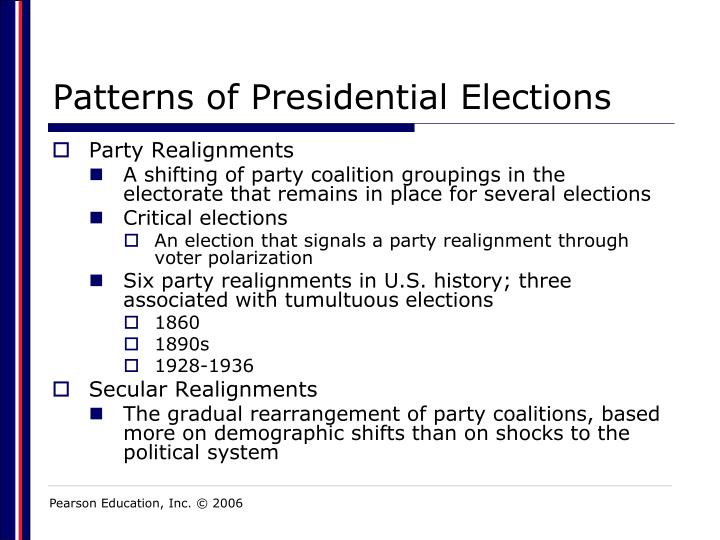 Patterns of Presidential Elections
