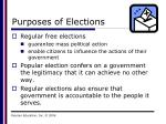 purposes of elections