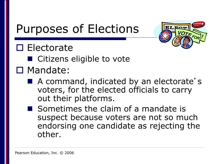 Purposes of elections1