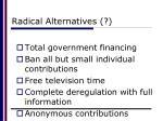 radical alternatives