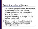 recurring reform themes