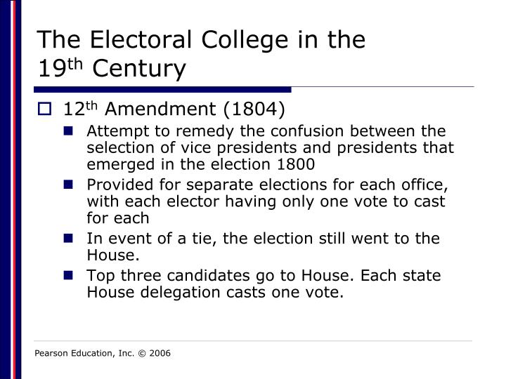 The Electoral College in the 19