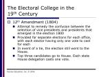 the electoral college in the 19 th century