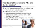the national convention who are the delegates